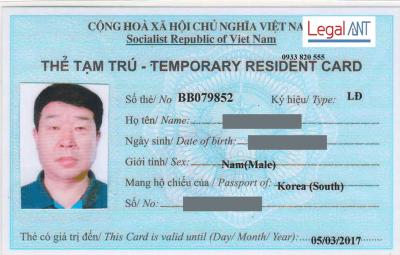 Dịch vụ thẻ tạm trú cho người nước ngoài chuyên nghiệp