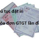 Thủ tục đặt in hóa đơn